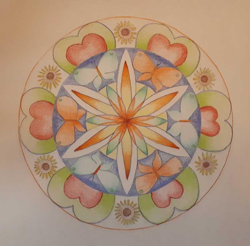 voorbeeld van mandala bij een individuele sessie
