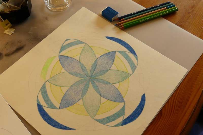 Mandala tekenen Simpel Jezelf Zijn